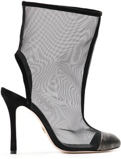 Past sheer boots - Black