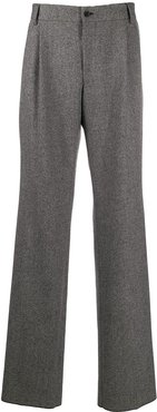 woven straight trousers - Grey