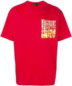 graphic print T-shirt - Red