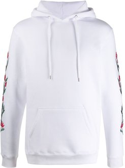 Granberg embroidered floral hoodie - White
