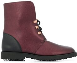 Cuddly ankle boots - Red