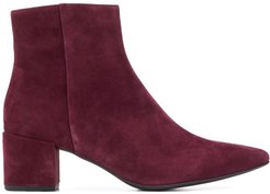 pointed-toe ankle boots - Red