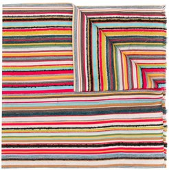 long striped scarf - Red