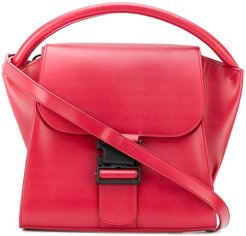 buckled tote - Red