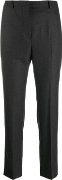 high-waisted slim-fit trousers - Grey