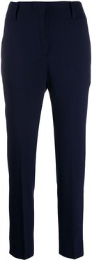 high-waisted slim-fit trousers - Blue
