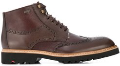 Varon sheepskin lined ankle boots - Brown