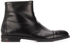 shearling lined ankle boots - Black