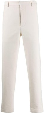 tailored straight leg trousers - White