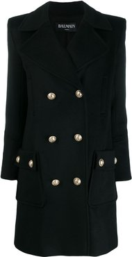 double-breasted coat - Black