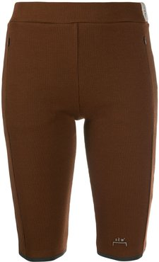 fitted logo shorts - Brown