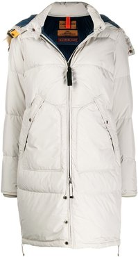 padded parka with removable hood - Neutrals