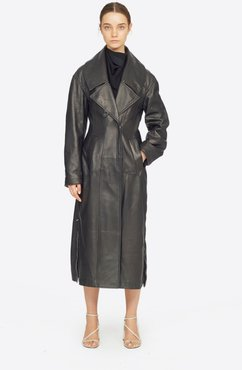 Zipped Leather Trench