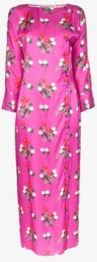 kelly floral print midi dress