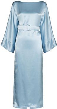 Jackie belted midi dress - Blue