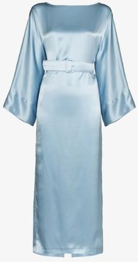 Jackie belted midi dress