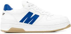 logo-panel low top trainers - White