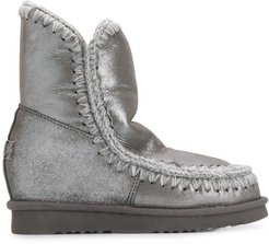Eskimo wedge knitted boots - Grey