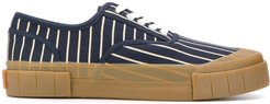 striped sneakers - Blue