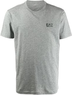 logo embroidered T-shirt - Grey