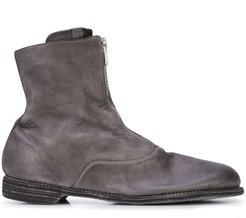 zipped ankle boots - Grey