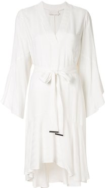 Nemesis tie-waist dress - White