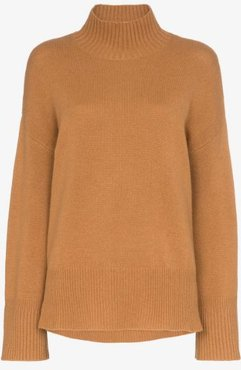 High Low cashmere turtleneck sweater