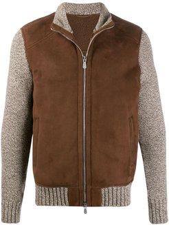 two tone jacket - Brown
