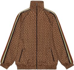 oversize G rhombus zip jacket - Brown