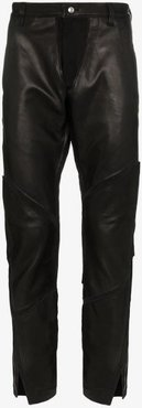 panelled leather trousers