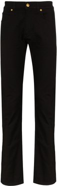 baroque detail straight-leg jeans - Black
