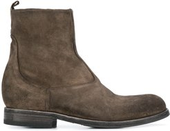 side zip ankle boots - Grey