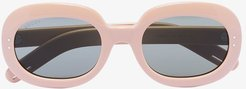 oval frame tinted sunglasses - Neutrals