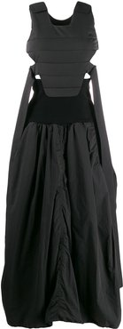 quilted shell dress - Black