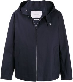 EDDLESTON raw edge hooded jacket - Blue