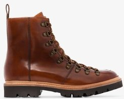 Tan Brady Leather Hiking Boots