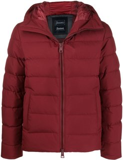 quilted zip-up padded jacket - Red