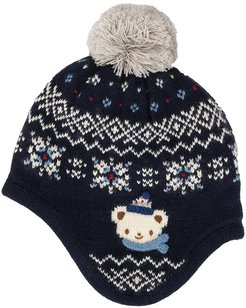 Bear trapper beanie - Blue
