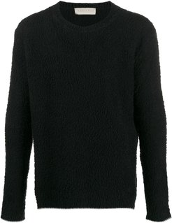 textured relaxed-fit jumper - Black