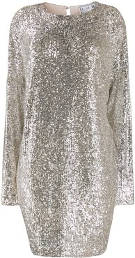 sequinned shift dress - SILVER