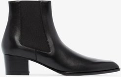 black TF 45 leather ankle boots