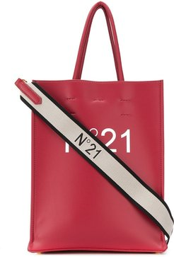 small logo print tote - Red