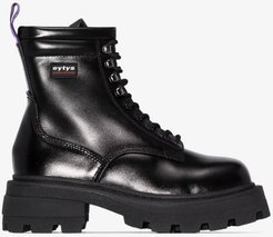 black Michigan chunky ankle boots