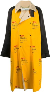 Industrial oversized trench coat - Yellow