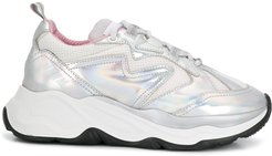 holographic Attack low-top sneakers - SILVER