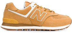 x New Balance 574 suede trainers - Brown