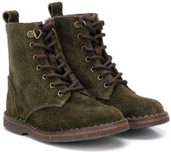 lace-up hiking boots - Green