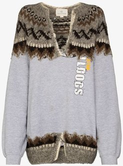 The Outlaw King knit panel sweater