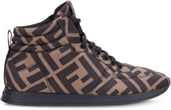 FF motif high-top sneakers - Brown
