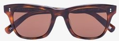 brown tortoise 007 square sunglasses